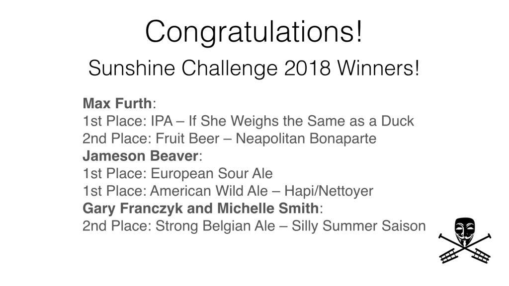 Sunshine Challenge Winners!