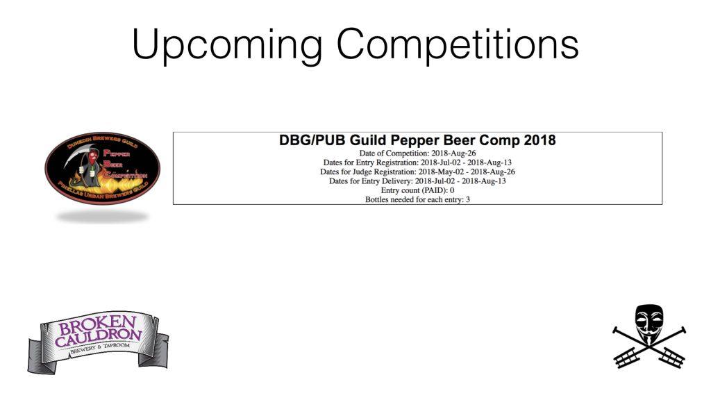 DBG / PUB Guild Pepper Beer Comp 2018
