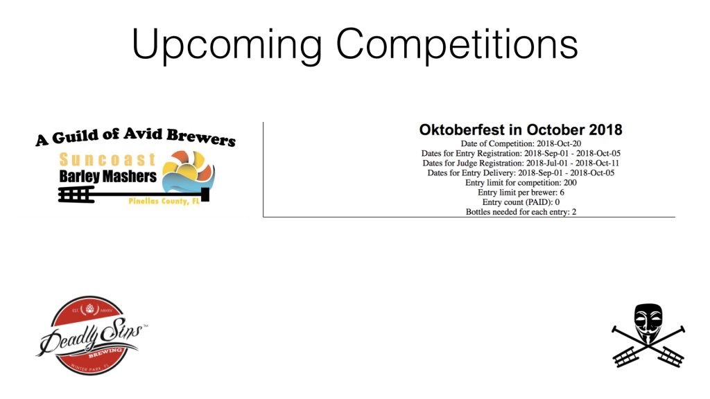Oktoberfest in October Competition