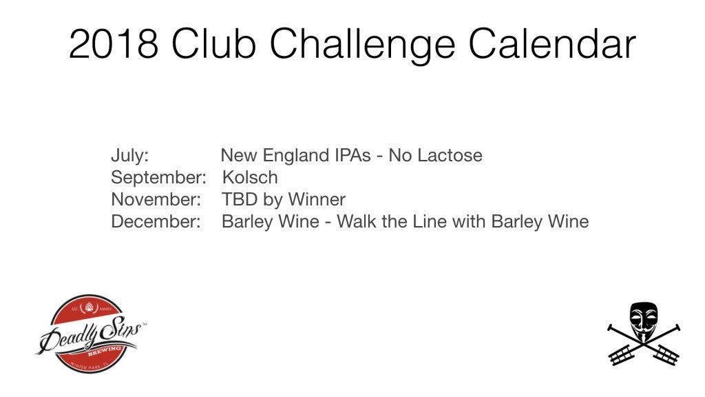 Homebrew Club Challenge Calendar