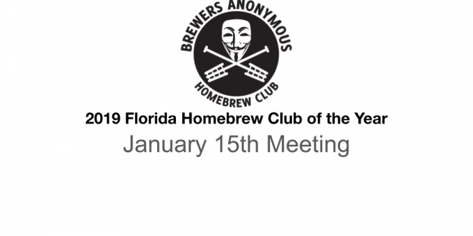 January 2021 Meeting Announcement